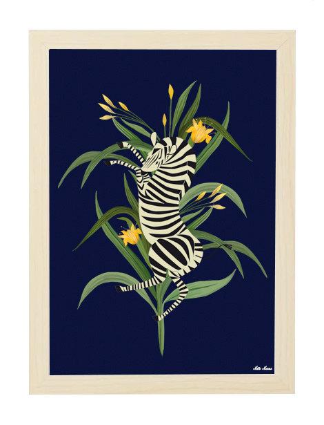 tableau, affiche, poster, zebra, zebre