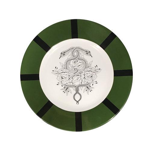 Assiette, plate, vaisselle, décoration murale, platedessert , vaisselle japonaise, vaisselle serpent, serpent