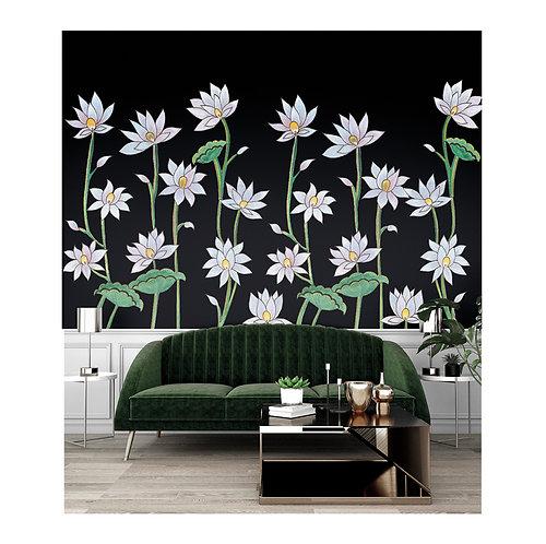 flower, white, ppapierpeintpanoramique, panoramique, wallpaper, walldeco, fresque, papelpintado, panoramic, decormural