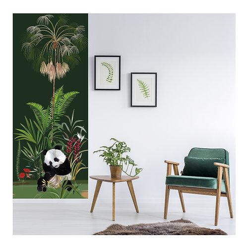palmier, papier peint, panoramique, vegetation, wallpaper, walldecor, fresque, panda, panoramic, decor mural