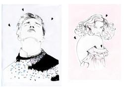 illustration, aquarelle, serigraphie