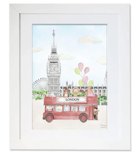 London, Illustration, maison juli, bus, tigre