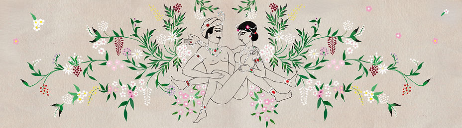 marie lichtenberg, kamasutra, mlle mouns, illustrations, design, dessin, kamasutra, dessins, marielichteinberg, broderie, embroderies, bijoux, jewellery, fashion, mode,  webdesign, logo, design, webdesigner, carte de visite, logo, design, identité visuelle, graphiste, graphique, directionartistique, Inde, Woman, men , homme, femme, sexe, 69, abeille, papillon, végétation, coeur, love, amour, perle, diamant, rubis, hindou, India, illustratrice, illustrateur, dessin