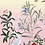 tableau, affiche, poster, oiseau, fleur, rouge , papillon, butterfley