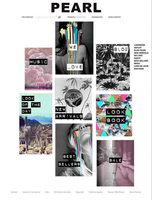 toupy, prêtàporter femme, webdesign, logo, design, collage, webdesigner, eshop, direction artistique, identity visuel, music, peinture, désert, robe, Dress, jupe, skirt, t-shirt, graphiste, graphique, Pearl, mode, fashion, pantalon, pants, Lookbook, sale, best sellers, newarrivals, blog