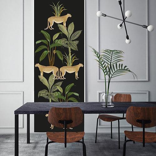 cheetah, papier peint, panoramique, vegetation, wallpaper, walldecor, flamingo, leopard, panoramic, decor mural