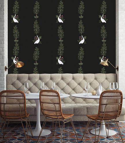 vegetation, papier peint, panoramique, birds, wallpaper, walldecor, fresque, oiseaublanc, panoramic, decor mural