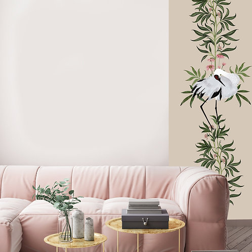 oiseau, papierpeint, tapisserie, panoramique, vegetation, wallpaper, walldecor, fresque, birds, panoramic, decor mural