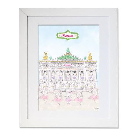 maison juli, opéra,opéra garnier, danseuse étoile,paris, illustration, dessin, aquarelle, mlle mouns, souris, ballerine