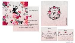 menu, carte de voeux, mariage, barmi