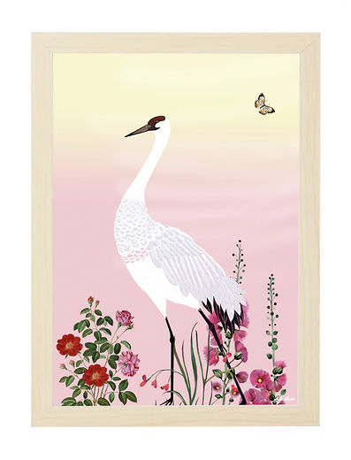 Tableau , dessin, fleur, oiseau, illustration, draw, déco, paper, designer, mllemouns