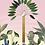 tableau, affiche, poster, zebre, zebra, palmier, palmer, jungle, savane, vegetation, perroquet, parrot