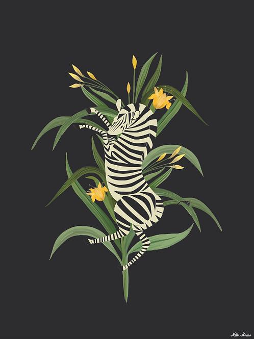 tableau, affiche, poster, zebre, zebra, vegetation