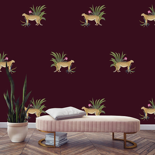 vegetation, papier peint, panoramique, cheetah, wallpaper, walldecor, fresque, leopard, panoramic, decor mural