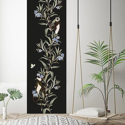 monkey, papier peint, panoramique, vegetation, wallpaper, walldecor, fresque, singe, panoramic, decor mural