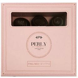 Truffe, praliné, chocolat, pralines, truffles, étiquettes, design, designer, chocolat, chocolatier, packaging, design, surmesure, logo,tablette, graphiste, graphique, imprimé, box, identité visuel, rose, box, boite de chocolat, Perly