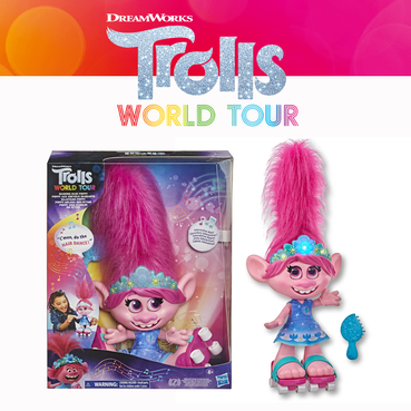 Trolls World Tour Dancing hair Poppy