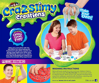 CZA 18836.CraZ Slimy Creations Deluxe Se
