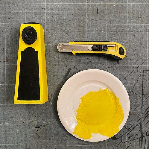 Petit obélisque jaune soleil   Little Sunny Yellow Obelisk