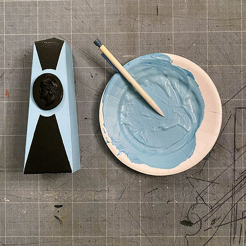 Petit obélisque bleu layette | Little Baby Blue Obelisk