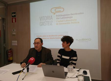 ¡Resultados del estudio sobre desafección política ciudadana en Vitoria-Gasteiz!