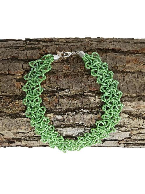Collier de perles Vertes ras du cou