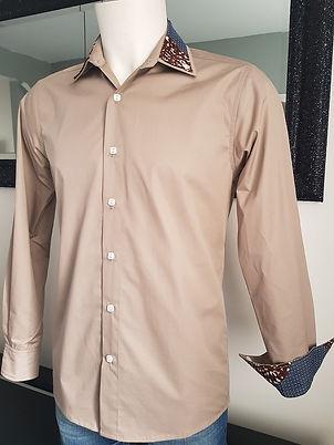 vetement chemise manche longue wax coton satin