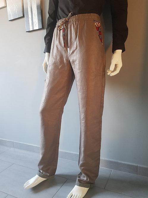 Pantalon Lin glacé et Wax