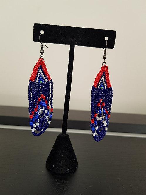 Boucles d'oreilles en Perles et fil