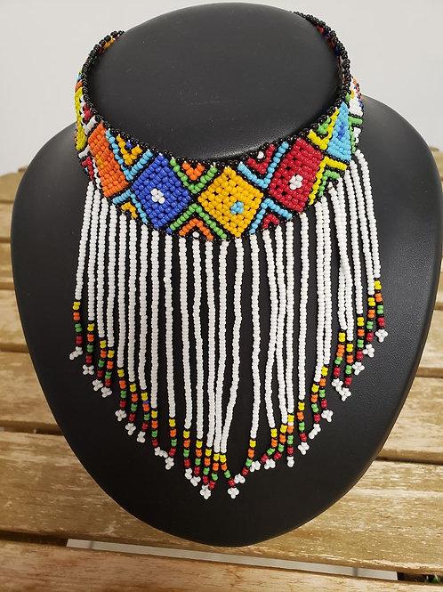 Collier multicolores Ras du Cou