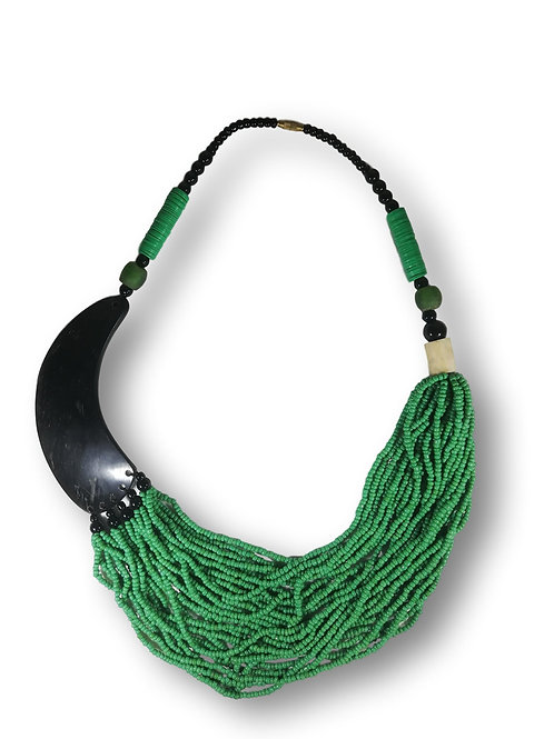 Collier de perles vertes