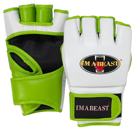 Im A Beast - MMA Gloves (Lime Green)