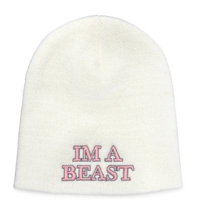 Im A Beast - White Beanie