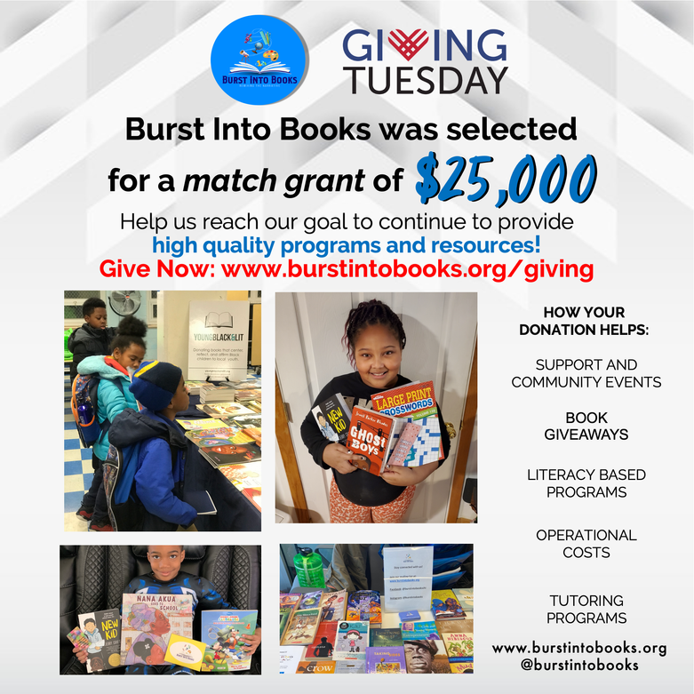 Burst Into Books on Giving Tuesday