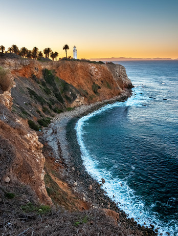 point vicente lighthouse at sunrise