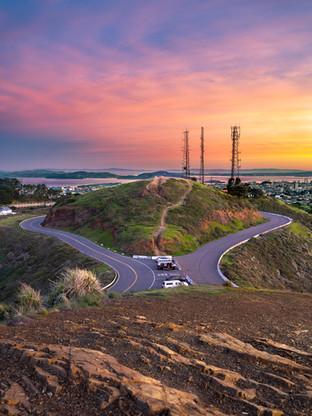 twin peaks at sunrise