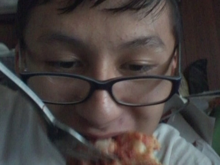 Eating Hot Pizza on a Hot Day