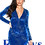 Thumbnail: Velvet Glitter Long Sleeve Fashion Dress