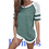 Thumbnail: Womens T-Shirts  Summer Short Sleeve Solid Candy Color
