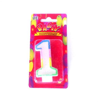 """Свічка для торта """"Цифра 1"""" Party"""