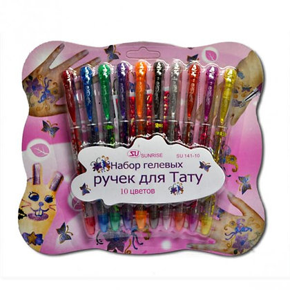 "Ручка SU141-10 гелева для ""Tattoo"" (набір)"