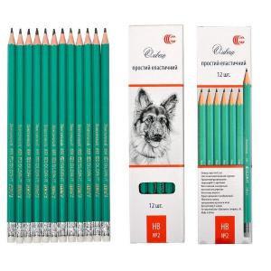 Олівець еластичний простий з гумкою