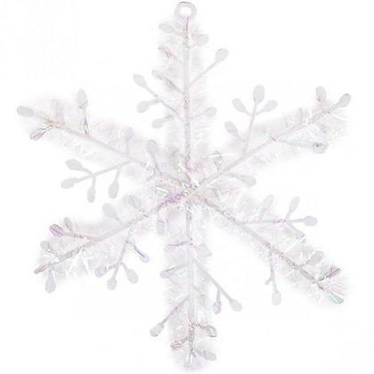 """Прикраса """"Сніжинка біла"""" 18 см."""