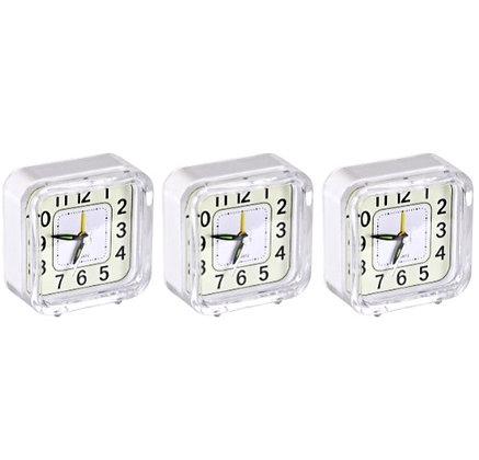 """Настільний годинник - будильник """"Квадрат"""" з підсвічуванням 901"""