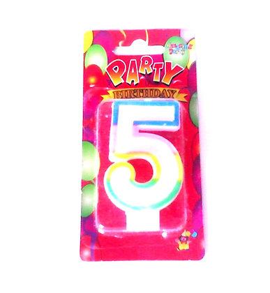 """Свічка для торта """"Цифра 5"""" Party"""