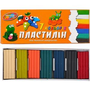 """Пластилін """"Колорит тон"""" 7 кольорів"""
