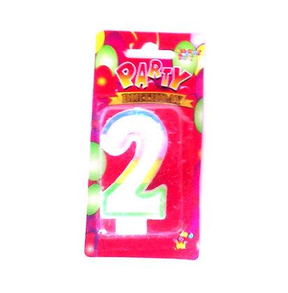 """Свічка для торта """"Цифра 2"""" Party"""