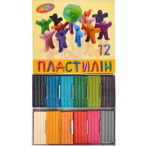 """Пластилін """"Колорит тон"""" 12 кольорів"""