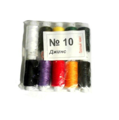 Ниткі швейні №10 кольорові