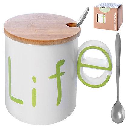 """Чашка """"Style"""" з кришкою і ложкою, 0.32 л. R86186"""